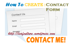 Menambahkan contact form  di blog wordpress