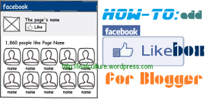 membuat facebook like box blogger.com atau blogspot