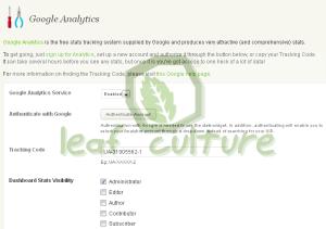 Menambahkan Blog statistics di Blog.com dengan Menghubungkan Google Analytics dengan Blog