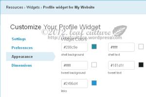 Cara Menambahkan Twitter Profile Widget di  Website atau Blog