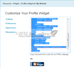 widget facebook twitter buat blog