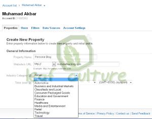 Menambahkan Web Property di Google Analytics