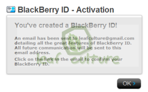 Membuat Akun BlackBerry ID di BlackBerry App World