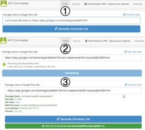 evozi online apk downloader
