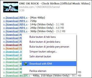 Download Video di Youtube Tanpa Software dan Integrasi IDM