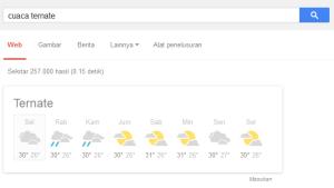 penelusuran google: cuaca ternate